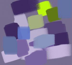 harmonie vert bleu violet