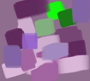 harmonie vert magenta violet