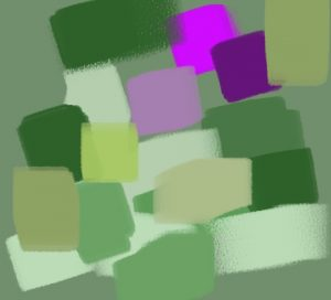 harmonie vert magenta jaune