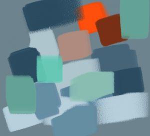 harmonie vert orange bleu