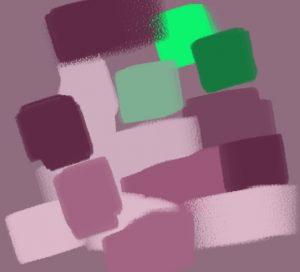 contraste vert magenta