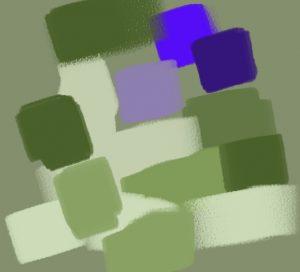contraste vert violet