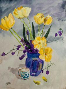 Tulipes et pois de senteur
