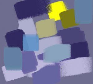 harmonie jaune violet bleu